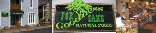 For Goodness Sake Natural Foods