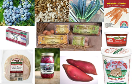 Organic Produce and Product deliveries, and March Specials at For Goodness Sake Natural Foods.