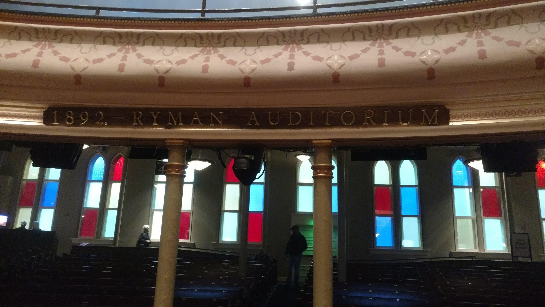 Looking ouside from Ryman Auditorium Nashville, TN 10-24-2019