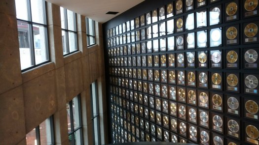 Country Music Hall of Fame wall of gold, silver and platinum records