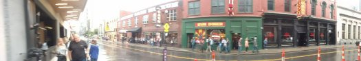 Panorama of Honky Tonk section of Nashville, TN