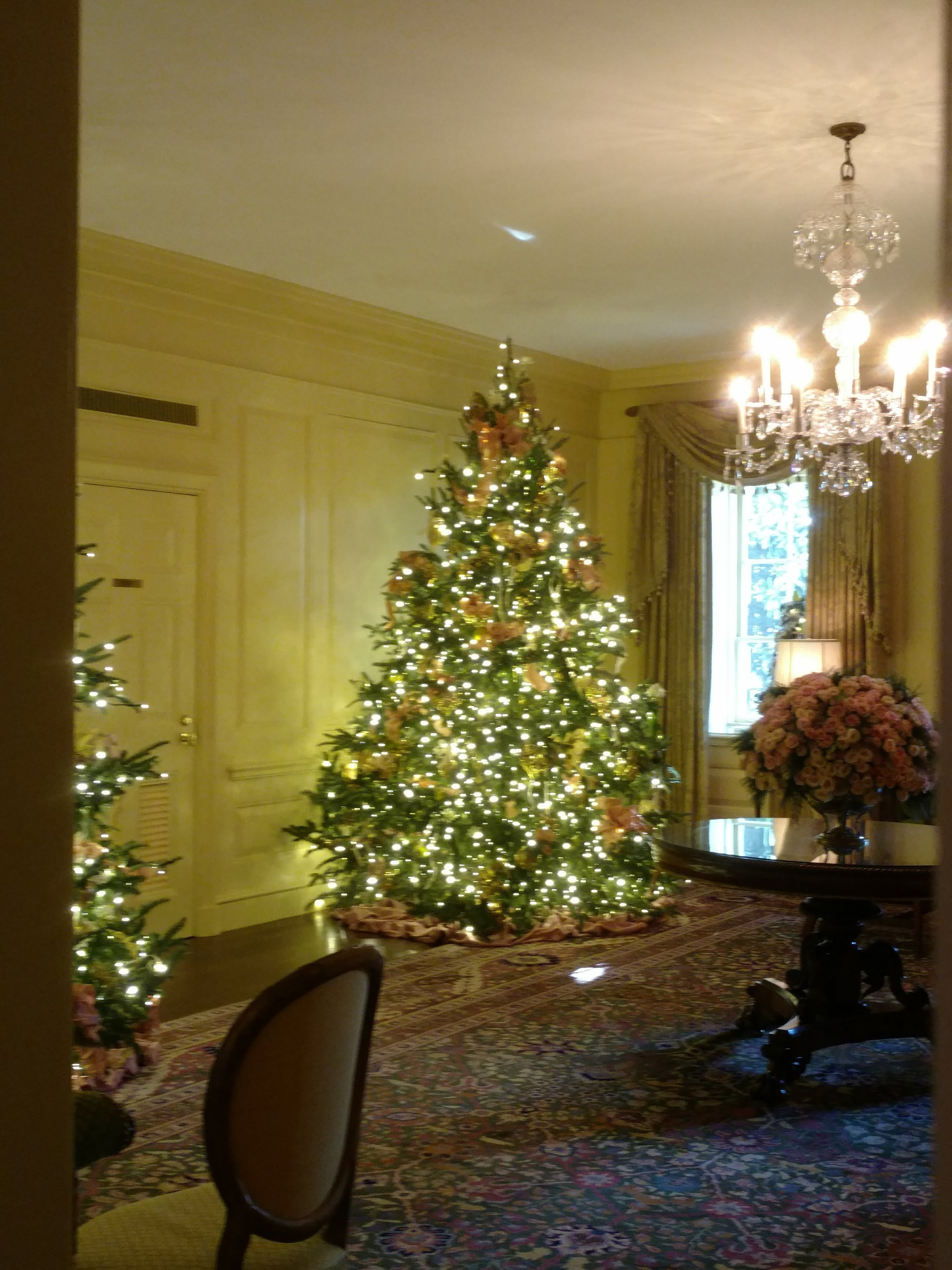 Festively decorations in a room at the White House