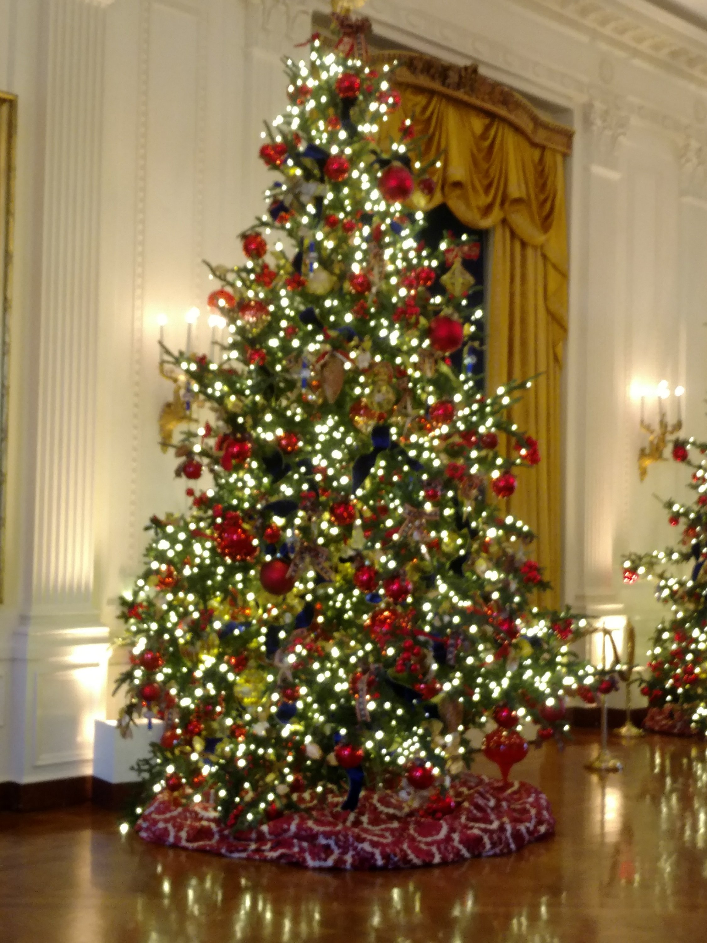 One of the many Christmas trees at the White house